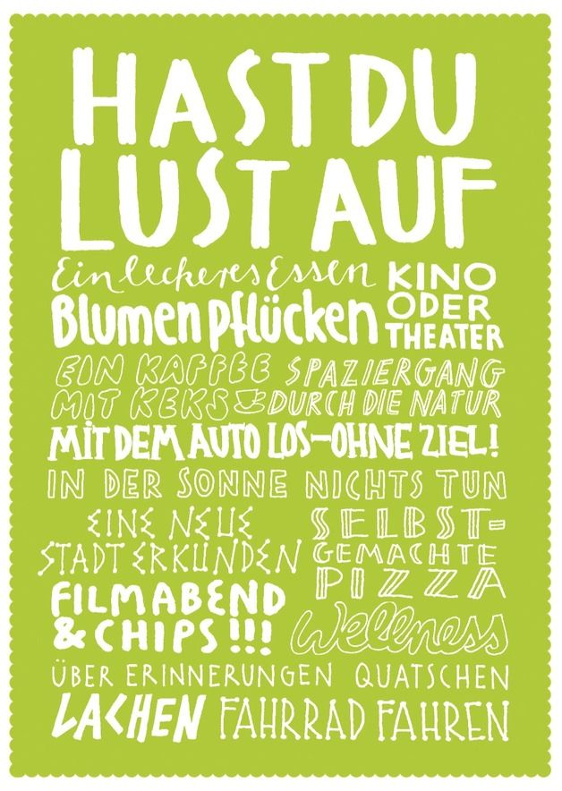 "Postkarte ""Hast du Lust auf..."" // postcard by LarifariLaden via DaWanda.com"