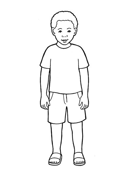 boy coloring pages images - photo#40