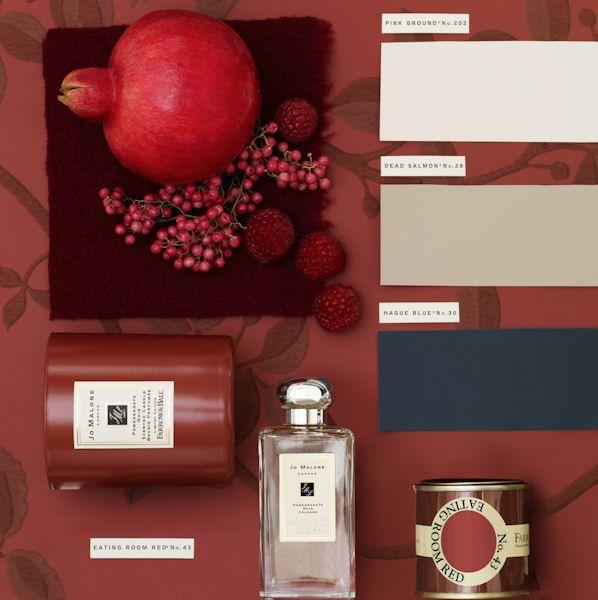 Pomegranate colour palette