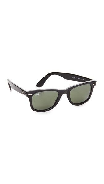 Get this Ray-ban's sunglasses now! Click for more details. Worldwide shipping. Ray-Ban Wayfarer Straight Sunglasses: Classic Ray-Ban Wayfarer sunglasses with glossy frames. The signature style is updated with straighter arms than the original silhouette. Hard case and cleaning cloth included. Wayfarer frame. Non-polarized lenses. Made in Italy. Measurements Width: 5.5in / 14cm Height: 1.75in / 4.5cm Lens Width: 50mm (gafas de sol, gafa de sol, sun, sunglasses, sonnenbrille, lentes de sol…