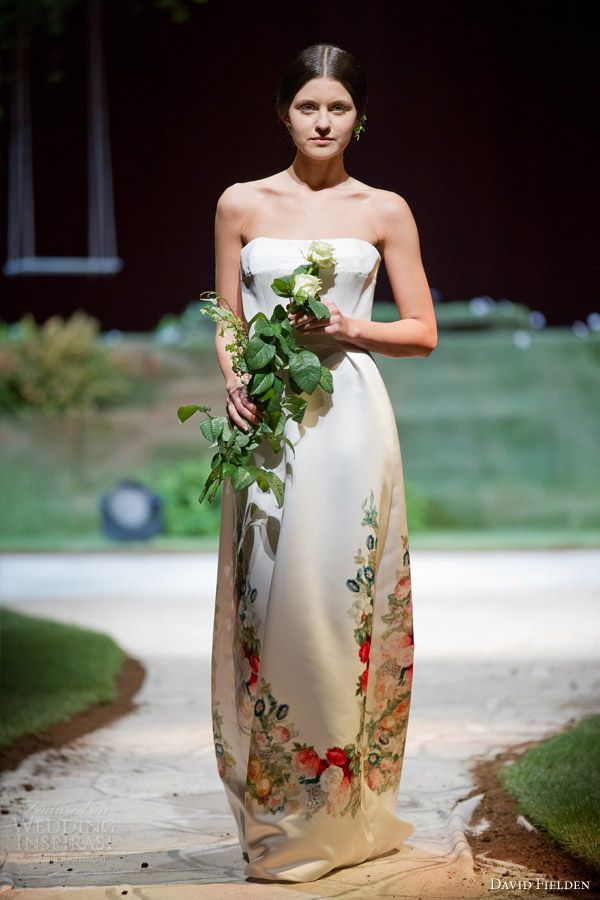 Fl Print Wedding Dress Style 25 Best David Fielden Sposa 2016 Images On Pinterest