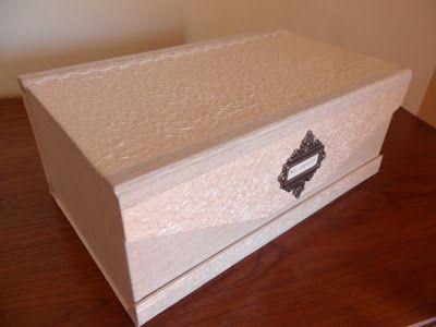Caja para zapatos de novia