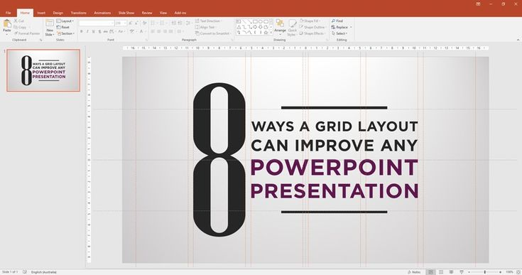 Using grid layouts on PPT