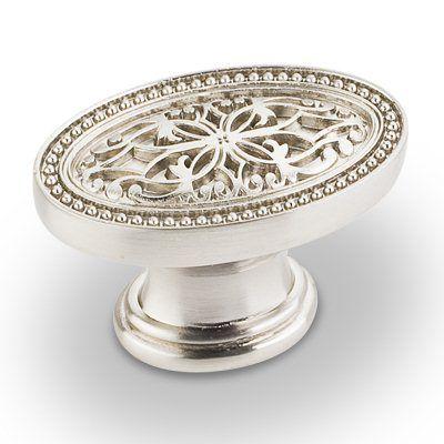 atlas homewares sunflower kitchen cabinet knob brushed nickel see more jeffrey alexander odessa oval filigree knob