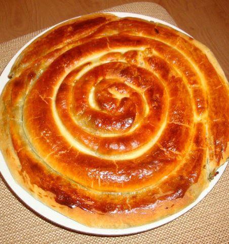 Пирог Сырная улитка
