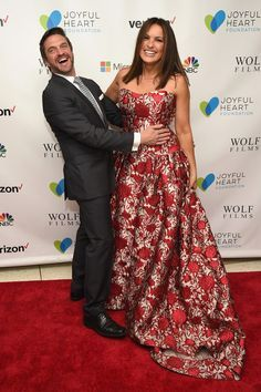 Actor Raul Esparza (L) and actress and Joyful Heart Foundation Founder and President Mariska Hargitay attend The Joyful Revolution Gala hosted by Mariska Hargitay's Joyful Heart Foundation at David Geffen Hall on May 10, 2016 in New York City.