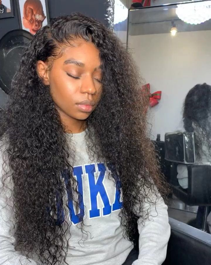 Curly Ombre Middle Part Sewin Hair Styles Curly Weave Hairstyles Weave Hairstyles