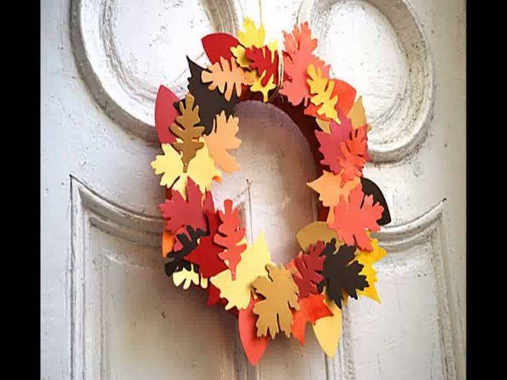 Creative Fall paper crafts - Home Art Design Decorations