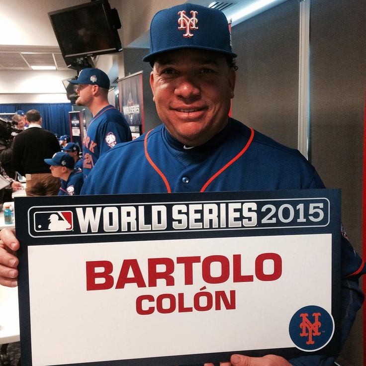 """After 18 major league seasons Bartolo will be a part of his 1st #WorldSeries game tonight. #Mets #LGM"""