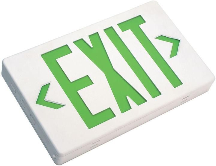17 best ideas about emergency exit signs exit sign nicor lighting high impact white green thermoplastic led emergency exit sign automatic low