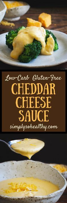 This Low-Carb Cheddar Cheese Sauce adds creamy goodness to your favorite meat or vegetable. It's not thickened with flour, like most cheese sauces, so it can be part of a low-carb, keto, Atkins, gluten-free, diabetic, or Banting diet.