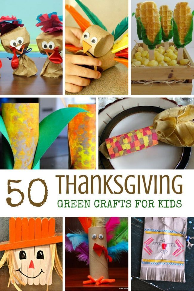 Best Toys 4 Toddlers - More than 50 green Thanksgiving crafts for kids with items from the recycle bin to enjoy!