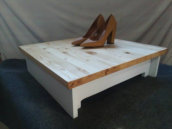 Square Alteration Fitting Platform For Seamstress or Tailor Smooth Wooden Top