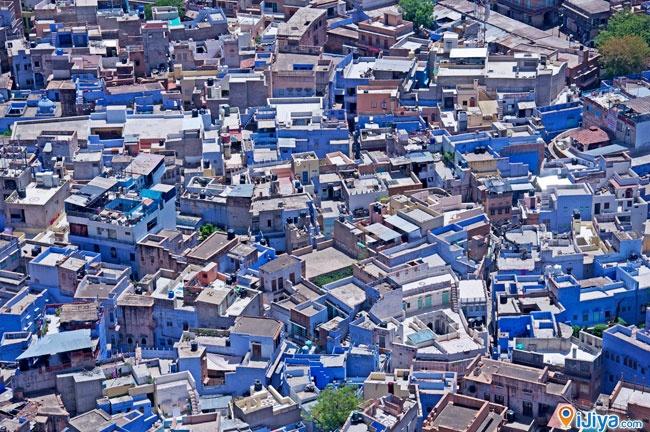 panorama view of Jodhpur, Rajasthan  ** Blue City, Sun City of INDIA **  @ http://ijiya.com/8237140
