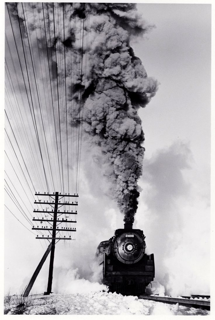 Canadian Pacific Railway 4-6-2 type steam locomotive number 2408 (c.1960). D. Plowden