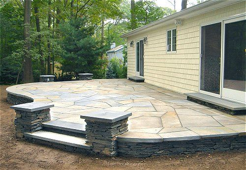 Pictures Of Backyard Patios: Flagstone Patio Paver Ideas