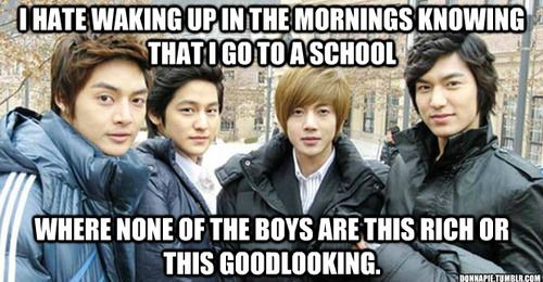 I wish I could have gone to the ShinHwa School.