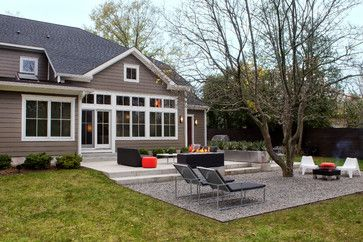 Extended gravel patio