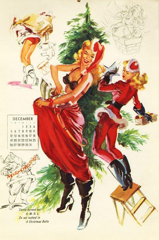 131 best Pinup Christmas images on Pinterest | Vintage holiday ...