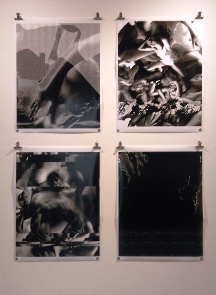 """Waldo Estuardo (CL) """"Archivo, cuerpo sensible"""" 2013 Políptico 4 imágenes Impresión Digital"""