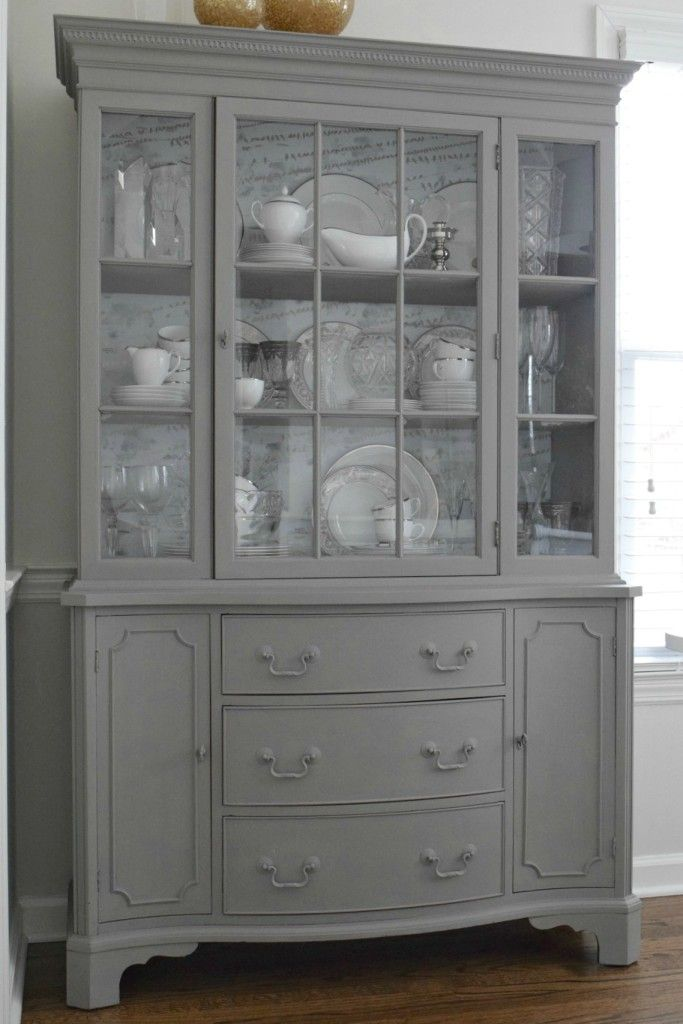 How I used Mud Paint and Chalk Paint - Nesting With Grace...French Linen Gray chalk paint