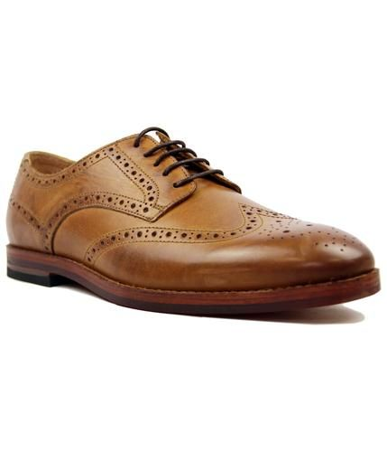 Talbot H by HUDSON Mod Retro Calf Tan Brogues