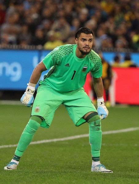 Brazilian goalkeeper Silva Weverton during the Brazil Global Tour match between Brazil and Argentina at Melbourne Cricket Ground on June 9, 2017 in Melbourne, Australia.