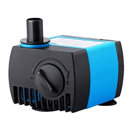 VicTsing 80 GPH (300L/H) Submersible Water Pump For Pond, Aquarium, Fish Tank Ultra Quiet Fountain Water Pump Hydroponics with 5.9ft (1.8M) Power Cord - The VicTsing submersible pump features compact, multifunctional, and detachable, perfect for aquarium, tabletop fountains, water garden and hydroponic systems.Compact & PowerfulCompact design is great for space-saving on your tabletop fountain. The maximal flow rate can be up to 80 gallons per ho...