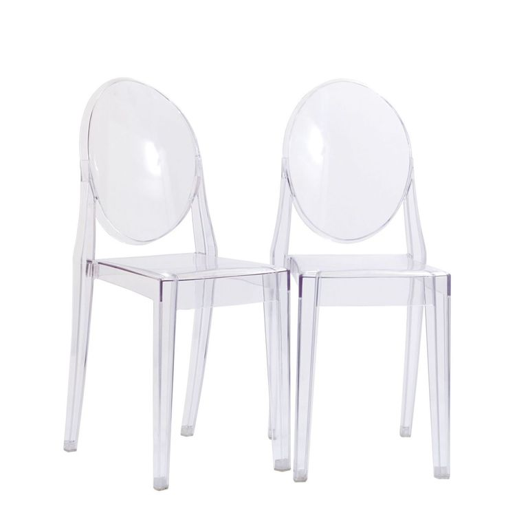 Casper Ghost Dining Chairs Set of 2