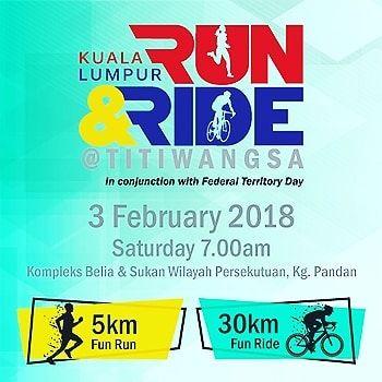 Get your running or cycling fix for February in the Kuala Lumpur Run and Ride @ Titiwangsa!  Date:03 Feb 2018 (Sat)  Location:Kompleks Belia & Sukan W.P Kuala Lumpur Federal Territory  #runandride #combo #kajang #kl #titiwangsa #february