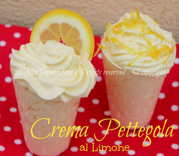 Crema pettegola al limone e panna