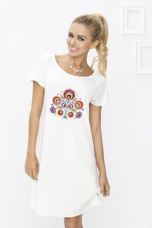 1 Koszulka nocna Flora druk 004 wiskoza PROMO - 12888