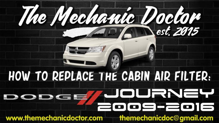 This video will show you step by step instructions on how to easily replace the cabin air filter on a Dodge Journey 2009-2016.