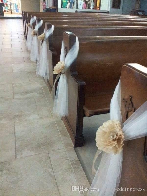 Tulle Wedding Decorations Chair Covers Sashes Backdrops Wedding Pew Decorations Arch Custom Made 150cm Width 100mters Long Beach Wedding Decorations Country Wedding Decorations From Yateweddingdress, $104.53| DHgate.Com