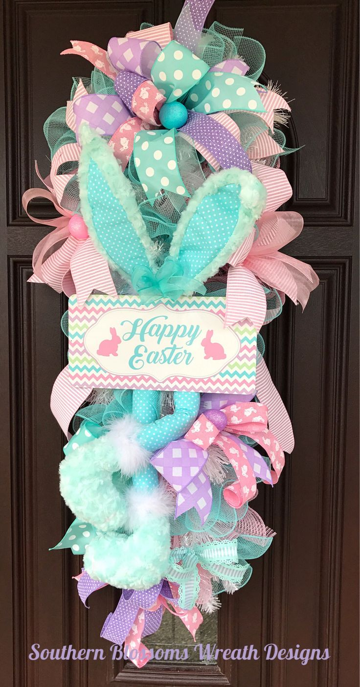 A personal favorite from my Etsy shop https://www.etsy.com/listing/578066444/easter-rabbit-swag-easter-wreath-with