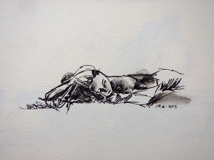 Sleeping in Galoppatoio, Rome  -Lily Santamaria