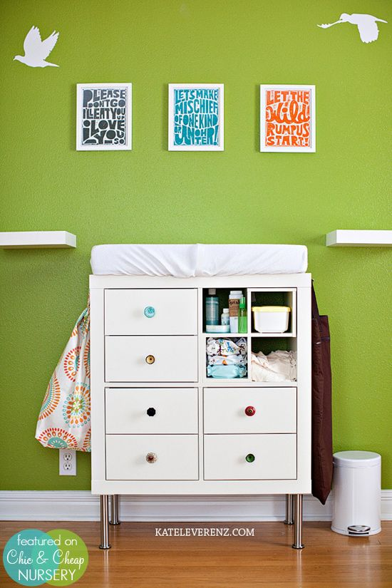 Ikea expedit shelf as changing table