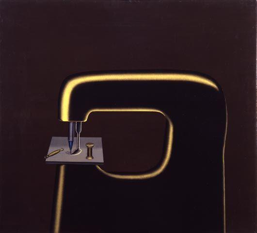 Konrad Klapheck 'Das Orakel', 100 x 110 cm, Öl auf Leinwand, 1959