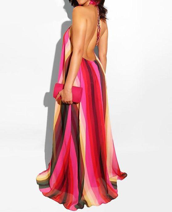 41d11db37c8c women woman volume vestidos summer stylish style spring size real print  pretty popular plus pink photos