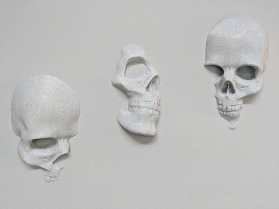 Set Of 3 Skulls Wall Art Skull Wall Art Skull Wall Decor Skull Decor