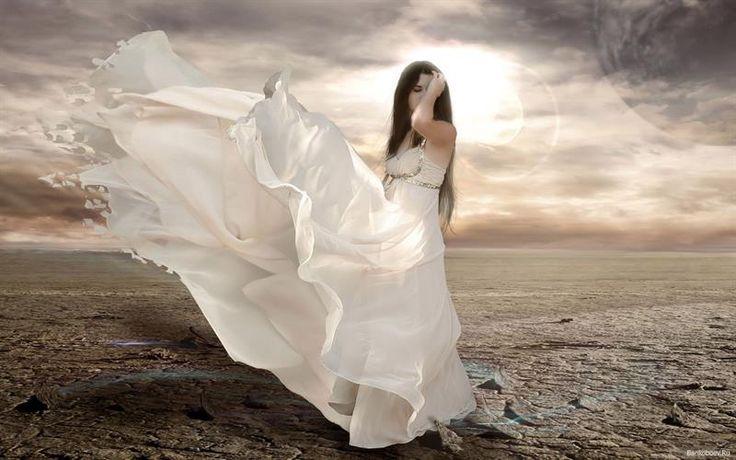 Фотографии девушек в белом платье