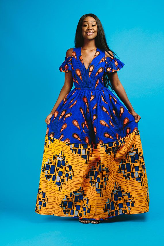 0150d249b African print maxi dress can be worn up to 10 ways completely reversible  100% cotton