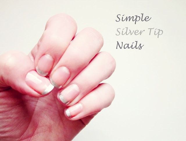 Thrifty and Fabulous Accessories: Simple Silver Tip Nails