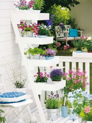 Garden in soft colors