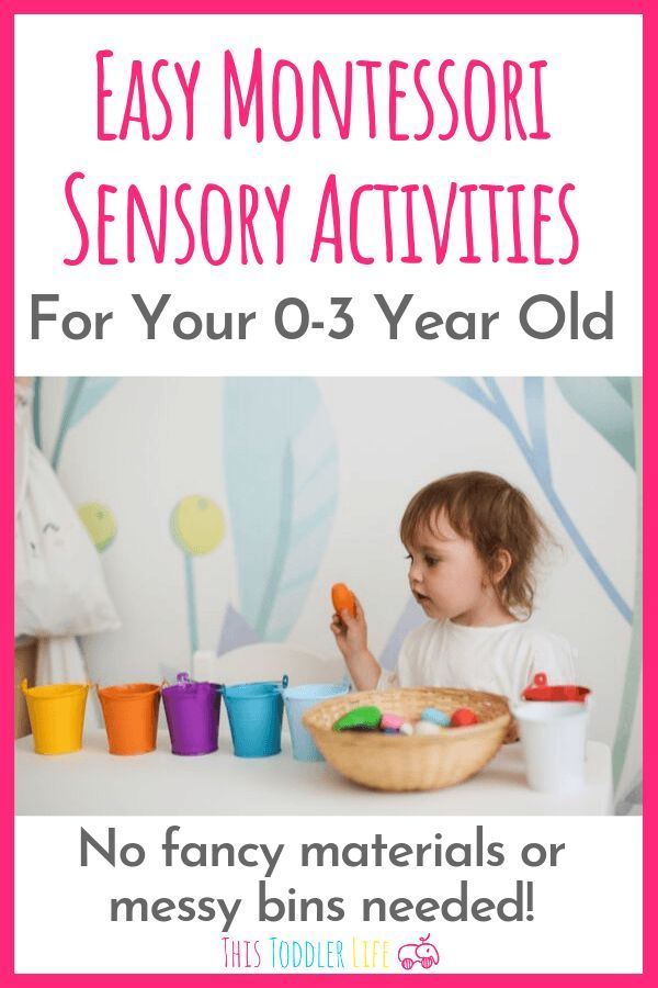 Easy Montessori sensory activities for your 0-3 year old. Montessori sensory act…