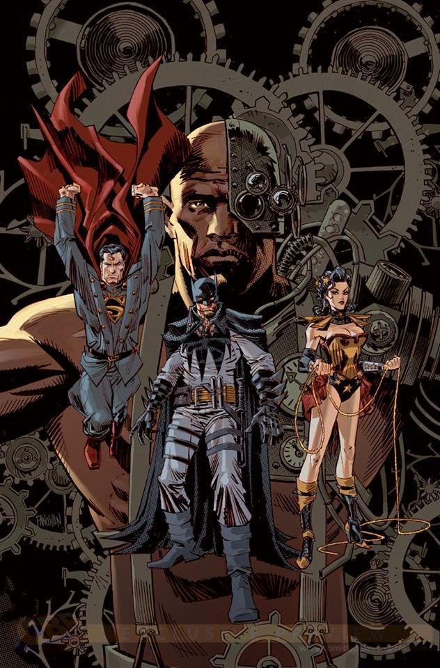 Steampunk Tendencies | Justice League #28 variant by Dan Panosian (CBR)