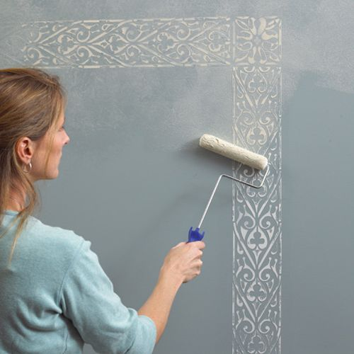 Wall Stencils for Painting | wall painting stenciling project gallery