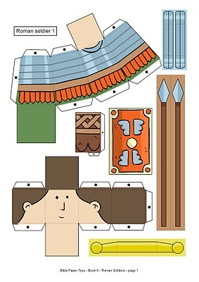 My Little House: Roman Soldiers Paper Toys
