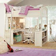 loft bed: Teens Rooms, Bunk Beds, Dreams Beds, Girls Bedroom, Decor Kids Rooms, Loft Beds, Girls Rooms, Bedrooms Ideas, Girl Rooms
