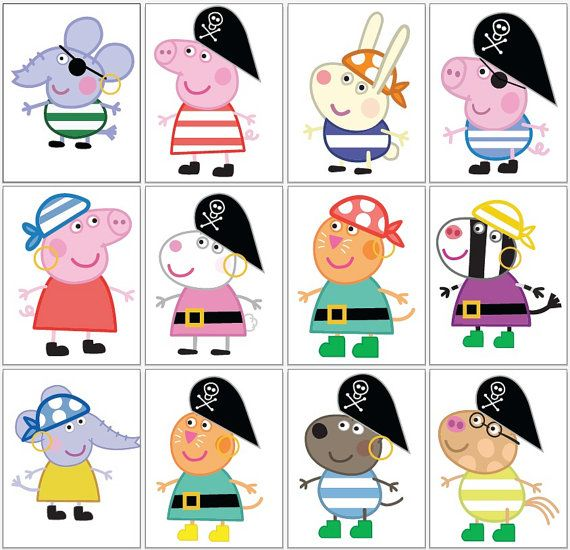 26 Images Peppa Pig Pirate JPG & PNG 300 DPIs by Migueluche